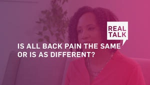 Is all back pain the same or is AS different?