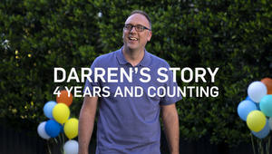 Darren struggled for years before he found COSENTYX (secukinumab). Since he's found it, he's felt relief for 4 years and counting.